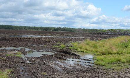 Sateet pysäyttivät Keski-Suomen turvetuotannon
